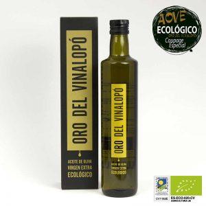 Aceite de oliva virgen extra ecológico Oro del Vinalopó Coupage Especial botella de 500