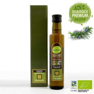 Condimento preparado de aceite ecologico con romero botella de 250cc