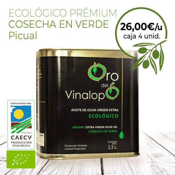 aceite de oliva ecológico en lata