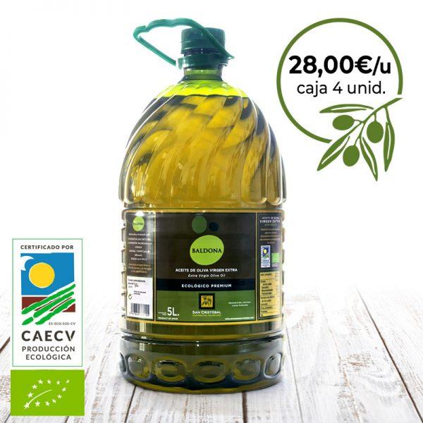 aceite de oliva ecologico pet
