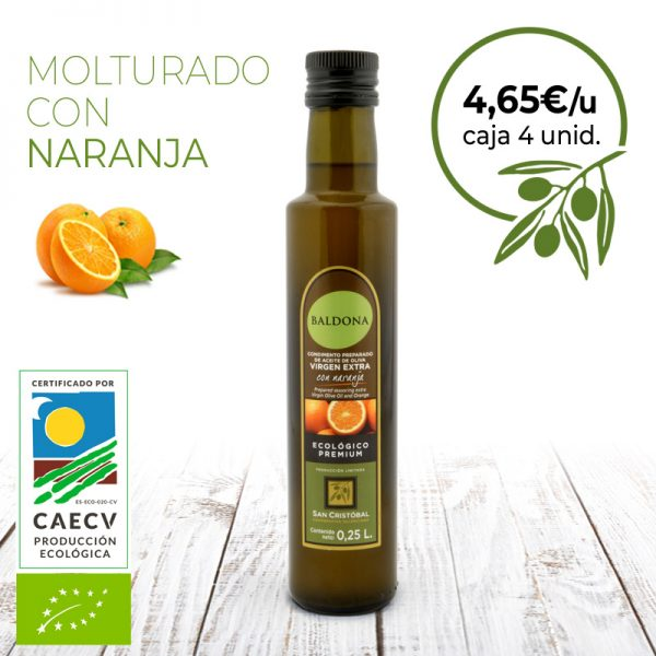 aceite de oliva ecológico con naranja