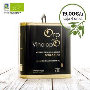 aceite de oliva ecólogico en lata