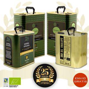 Aceite de oliva virgen extra pack 25 aniversario