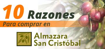 Comprar aceite virgen extra de calidad superior en Almazara San Cristóbal