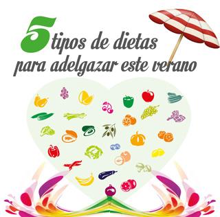 5 tipos de dietas para adelgazar este verano