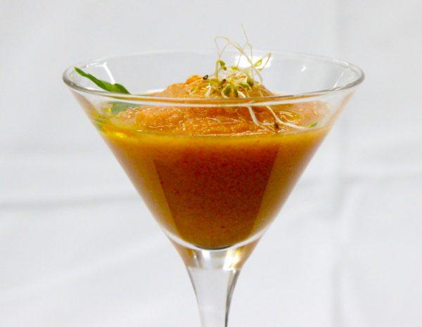 Gazpacho de mango con esferificaciones – CIP FP Batoi