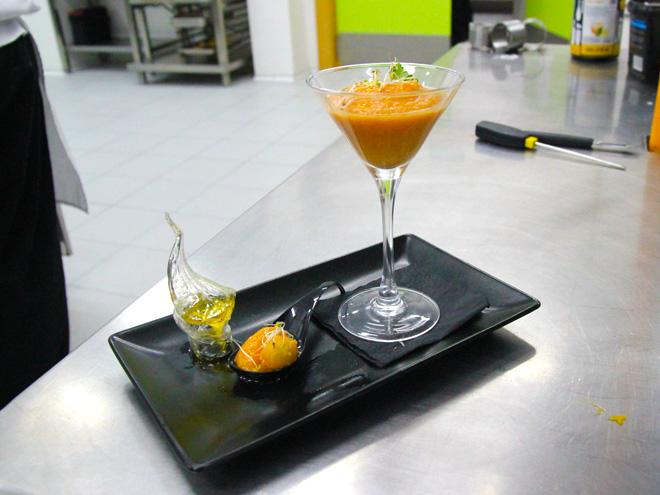 Gazpacho de mango receta CIP-FP-Batoi