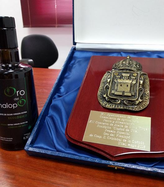 Premio Especial Mejor Aceite de Oliva V.E. Ecológico